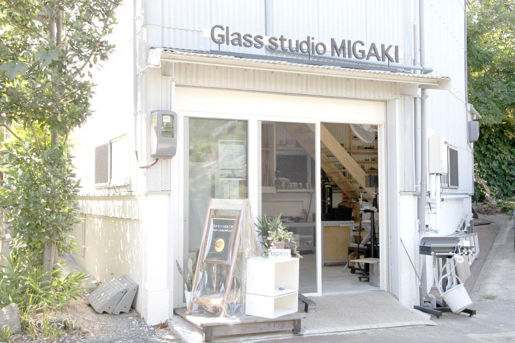 ガラス工房の外観
