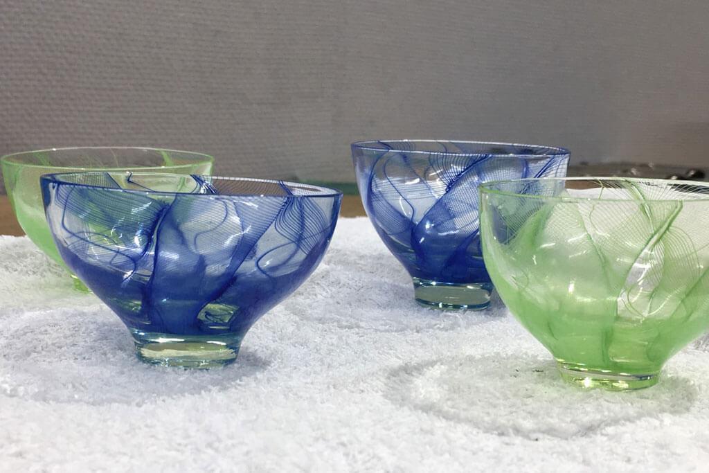 ウランガラス作品